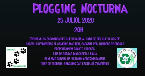 Plogging nocturna Castelló d'Empúries